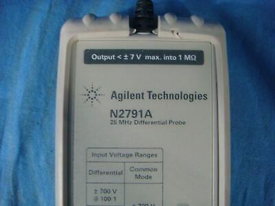 Agilent N2791A 25 MHz High Voltage Differential Probe