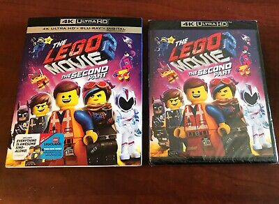 THE LEGO MOVIE 2:THE SECOND PART(4K ULTRA HD+BLU-RAY+DIGITAL) Brand New