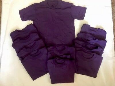 NEW! Lot Of 12 Nike Purple Blank Toddler 4T T-Shirts Plain Short Sleeve Boy/Girl