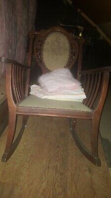 Antique Wooden Rocking Chair old