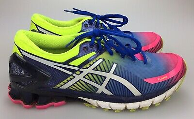 new product 66eb9 4ccc5 ASICS GEL-KINSEI 6 Women's 9 40.5 Running Shoes Pink Blue Yellow T694N