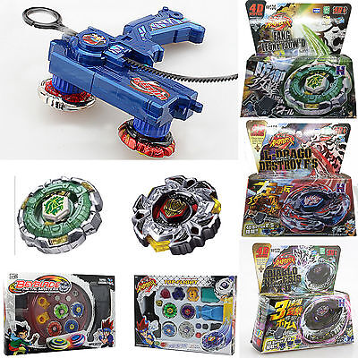 Top Fusion Metal Master Fight Beyblade Rare 4D Launcher Beyblade Set Kids Toys