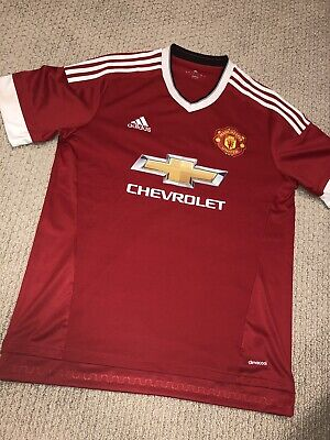 Soccer-international Clubs New Adidas Climacool Manchester United Short Sleeve Soccer Jersey Boys Xl
