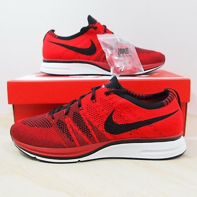 8e2630daee3b NIKE FLYKNIT TRAINER+UNIVERSITY Red Electric Green Mens Shoes 532984 ...
