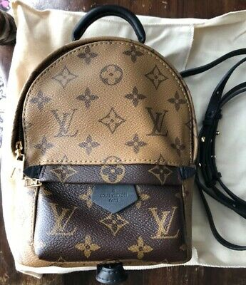 a39fadd46a7a Louis Vuitton Palm Springs Mini Backpack in Reverse Monogram Canvas. New!