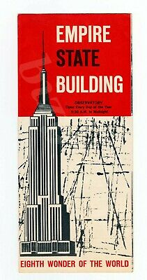 1940s Empire State Building Visitor's Travel Pamphlet Tallest Building in World