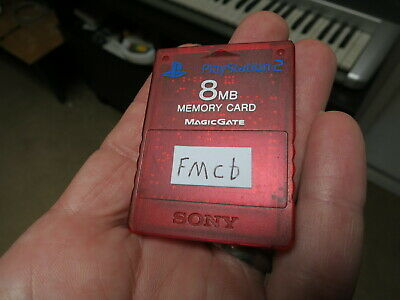 FMCB on rare red transparent Official Sony Memory Card. Free Mcboot PS2