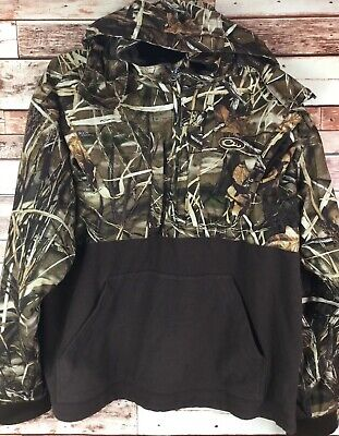 29602a9c7914f Men's Drake Waterfowl Systems Max 4 Hooded 1/4 Zip Camo Pullover Size XL