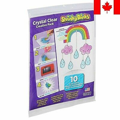 Shrinky Dinks Creative Pack 10 Sheets Crystal Pack ~ FAST & FREE SHIPPING