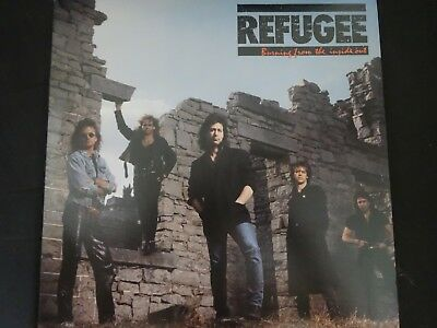 """Refugee """"Burning From The Inside Out"""" Original LP. 1st pressing/promo. 1987."""