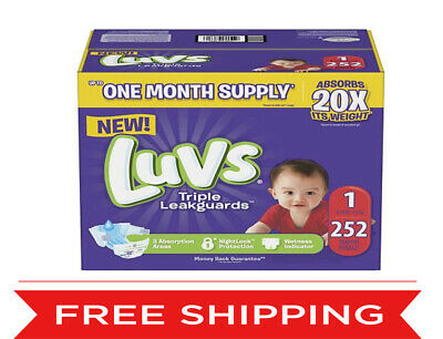 Luvs Ultra Leakguards Baby Diapers Size 1 2 3 4 5 6.  Free Shipping!!!!!!