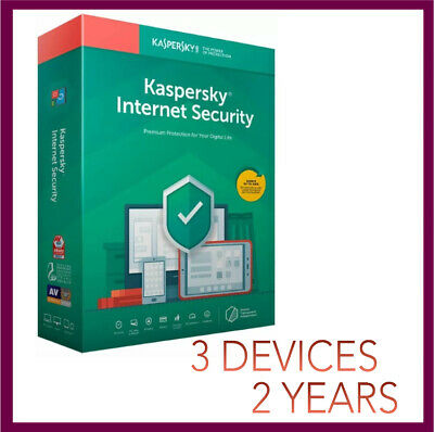 Kaspersky Internet Security Antivirus 2019 2020 | 3 PC Device 2 YEAR