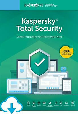 Kaspersky TOTAL Security Antivirus 2019 2020 | 1 PC Device 1 YEAR