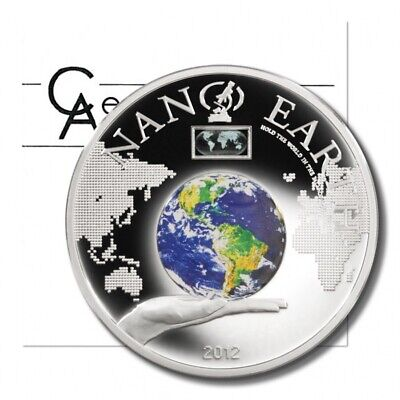 2012 Cook Islands Nano Earth The World On Your Hand Only 1000 Pcs Goods Of Every Description Are Available Münzen