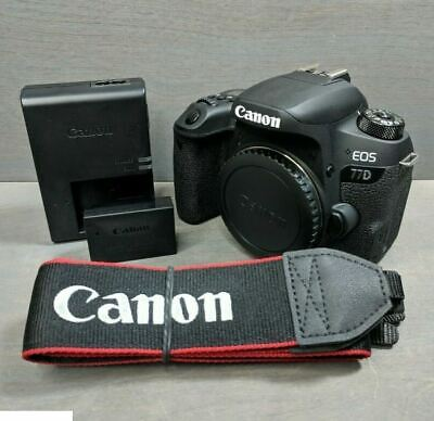 Canon EOS 77D 24.2 MP Digital SLR Camera Black (Body)