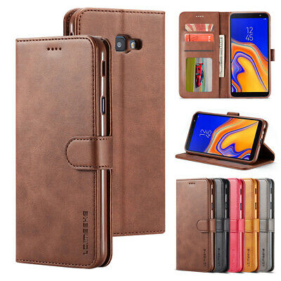 For Samsung Galaxy J4 J6 Plus Luxury Wallet Case Card Holder Pouch Flip Cover
