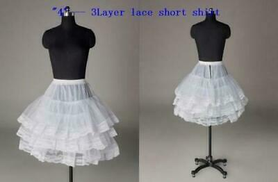 New Girls Full Bouffant White Petticoat Slip Sizes S M L XL