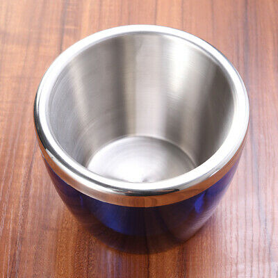 1pc Stainless Steel Ice Bucket Double Layer Champagne Fashion Bucket for Bar Ktv