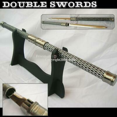Fantastic Double Cross Samurai Swords 25'' /w Ring Lock