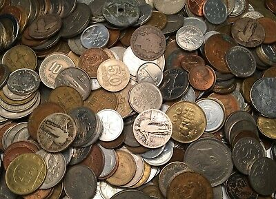 Old World Coin Collection Foreign Lots By The Pound - Silver, 1800'S, 100+ Coins