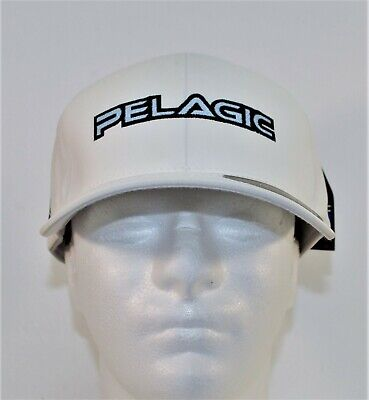 61b578286018c Pelagic Fishing White Flexfit Fitted Delta Hat Cap Sz Large XLarge BRAND NEW