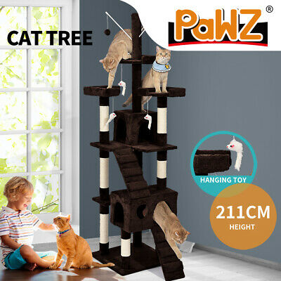 PaWz Pet Cat Tree Scratching Post Scratcher Trees Pole Gym Condo Furniture 2.1M