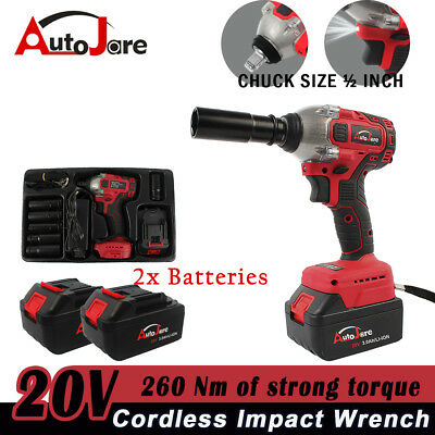 NEW Cordless wrench Rattle Gun high torque secure socket with 2 batteries