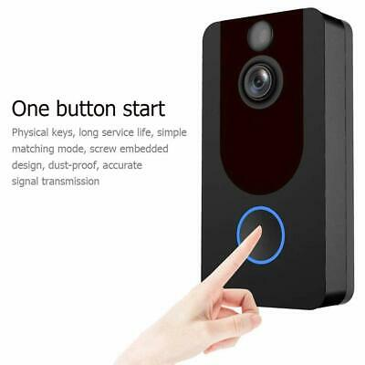 Wireless Smart WiFi DoorBell IR Video Visual Camera Intercom Home Security Kit P