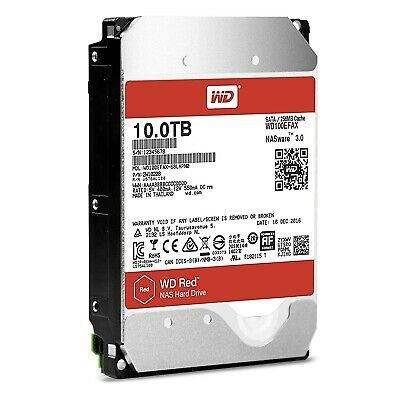 "Western Digital 10TB SATA 3.5"" HDD WD Red 256MB 5400RPM Internal Hard Drive NAS"