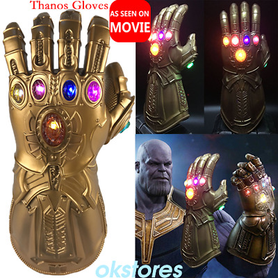 Thanos Infinity Gauntlet LED Light Gloves Cosplay Avengers Infinity War Prop HOT