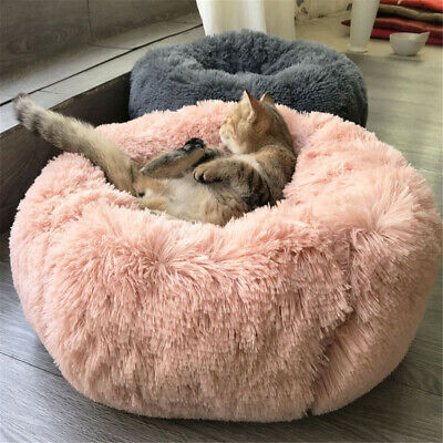 Dog Cat Round Bed Sleeping Bed Plush Pet Bed Kennel Sleeping Cusion Puppy Mat