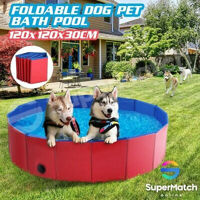 Dog Pool Pet Swimming Bathing Tub for Puppy Cats Kids Foldable 120CM X 30CM
