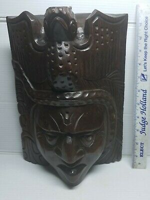 Handcarved Wooden Native American Mask Artist SIGNED #1