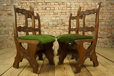 1950s 4 Dining Room Chairs Rittertafel Vintage Chair Medieval Castle 1960s