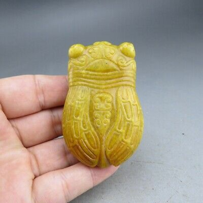 Chinese jade,collectibles,hand-carved,jade,Hongshan culture,cicada,pendant E9250
