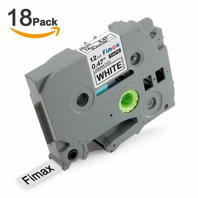 Replace PTD-600 Label Maker Tape for Brother P-Touch TZe-231 TZ-231 TZe231,18PK