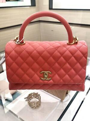 4071f0a0339e CHANEL COCO HANDLE Pink Caviar Mini KELLY Flap Burgundy Lizard ...