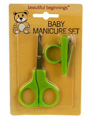Baby Manicure Set Scissors Mini Nail Clippers Green