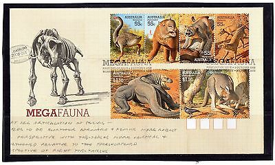 2008 Australia Mega Fauna Set Of 6 First Day Cover, Mint Condition