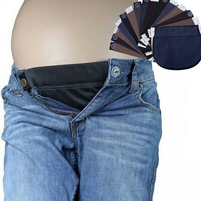 Maternity Pregnancy Waistband Belt Extender Adjustable Elastic Pants Waist 19cm