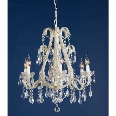Chandelier 6 arm ornate french crystal electric hanging ceiling light