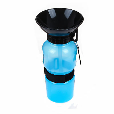 Cute Cup Dog Cat Pet Water Bottle Drinking Travel Outdoor Portable Feeder Auto