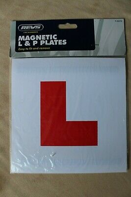4x Magnetic Car Learner L Plates & P Plates New & Sealed  Driving