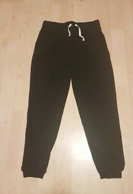 Unisex Black Joggers Jogging Bottoms Gym Active Wear Trousers 6-7 Years