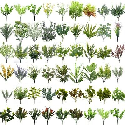 NEW Artificial Fake Leaves Bunch Greenery Foliage Leaf  Vine Green Home Decor