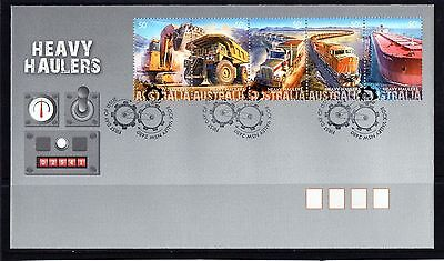 2008 Australia Heavy Haulers Strip Of 5 First Day Cover, Mint Condition