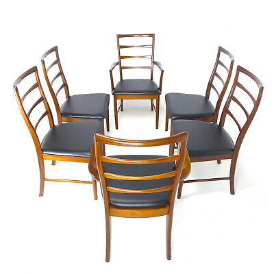 Set 6 Dining Chairs by McIntosh in Teak *NEW UPHOLSTERY Mid Century Danish Vtg