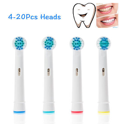 Electric Toothbrush Replacement Heads for Oral B Braun Model Sensitive Clean