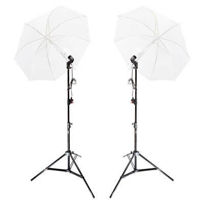 Continuous Lighting Twin Kit Light Two 50W LED Bulbs Translucent White Umbrellas