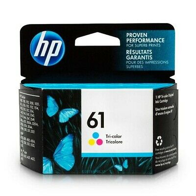 HP 61 Ink Cartridge, Tri-color (CH562WN) Brand New Retail Box